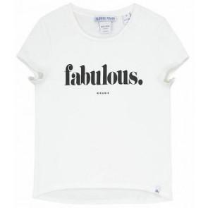 NIK en NIK t-shirt 'Fabulous' in de kleur wit