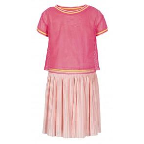 Le Big jurk met gaas top in de kleur zachtroze