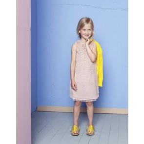 Le Big chiffon jurk met pailletjes in de kleur zachtroze