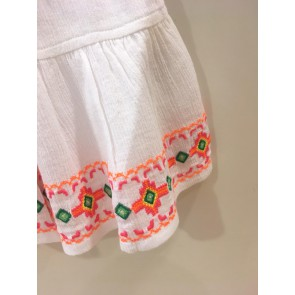 Le Big rok met borduursels in de kleur wit