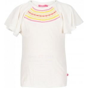 Le Big shirt met borduursels in de kleur off white