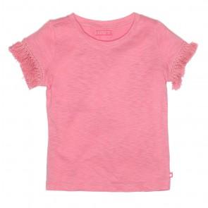 Le Big shirt met franje mouwen in de kleur roze