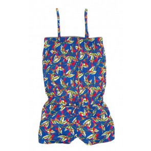 Le Big all over tropical print jumpsuit in de kleur blauw