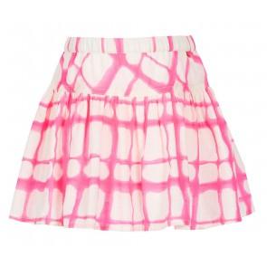Le Big rok met tie dye print in de kleur roze/off white