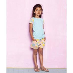Le Big short korte broek met pluisbloem print in de kleur zachtroze