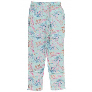 Le Big broek met all over tropical print in de kleur lichtblauw