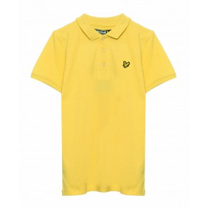 Lyle and scott junior kids polo shirt in de kleur geel yellow
