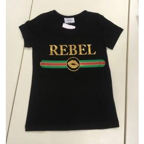 D-xel shirt Rebel in de kleur zwart