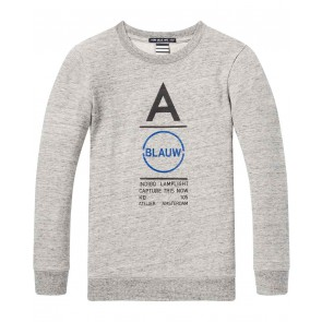 Scotch Shrunk dunne sweater amsterdams blauw in de kleur grijs