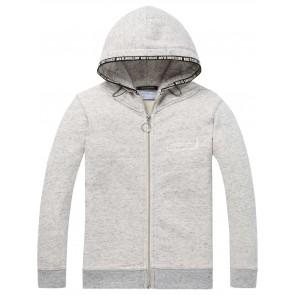 Scotch Shrunk hoodie sweat vest in de kleur gemêleerd grijs