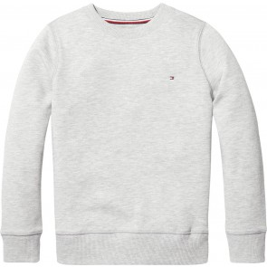Tommy Hilfiger basic sweater trui in de kleur licht grijs