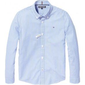 Tommy Hilfiger blouse in de kleur licht blauw/wit gestreept
