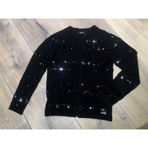 Guess fijngebreid vestje met pailletten in de kleur zwart