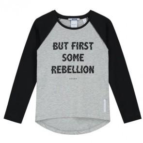 NIK en NIK longsleeve t-shirt met tekst in de kleur grijs