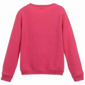 Guess sweater trui met bloemenprint in de kleur roze