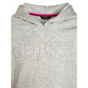 Guess hoodie trui met roze details in de kleur grijs