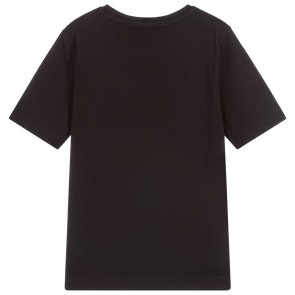 Hugo Boss t-shirt met witte logo print in de kleur zwart