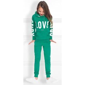 NIK en NIK hoodie trui met witte tekst in de kleur groen