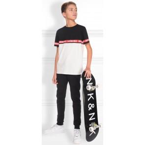NIK en NIK t-shirt 'invincible' in de kleur wit/rood/zwart