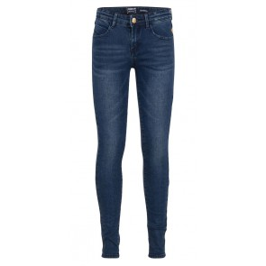 Indian blue jeans super skinny denim broek in de kleur dark jeansblauw