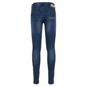 Indian blue jeans super skinny denim broek in de kleur dark jeansblauw