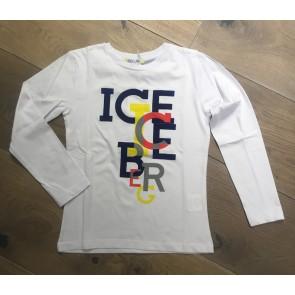 Iceberg longsleeve shirt met gekleurde logo print in de kleur wit