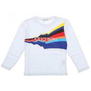 Iceberg kids longsleeve shirt met logo print in de kleur wit