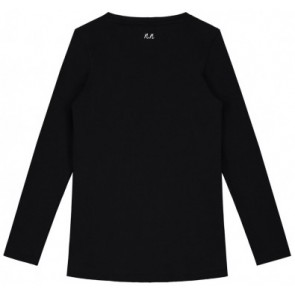 NIK en NIK longsleeve t-shirt met tekst in de kleur zwart