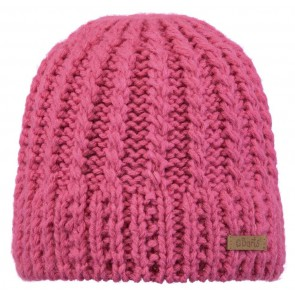 Barts beanie muts met kabels in de kleur roze