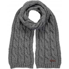 Barts kabel sjaal in de kleur grijs