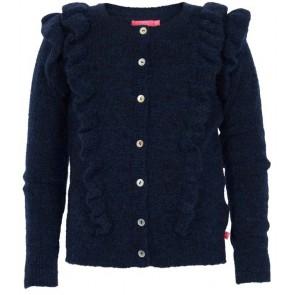 Le Big vest met roesels in de kleur zwart