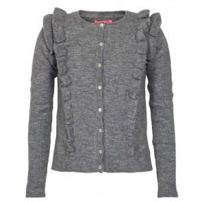 Le Big vest met roesels in de kleur grijs