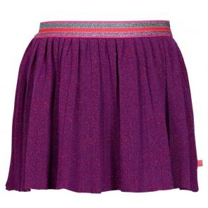Le Big glitter rok met gekleurde band in de kleur paars