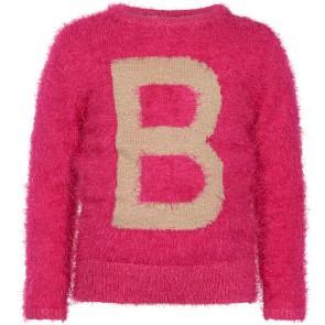 Le Big zachte sweater trui met goud in de kleur roze