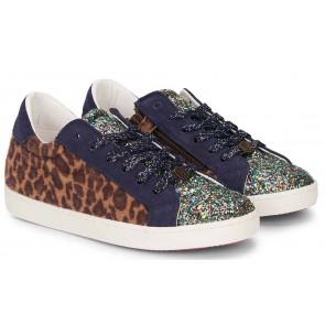 Le Big schoenen met panterprint en glitter in de kleur multicolor (2 paar veters)
