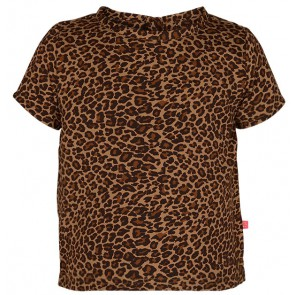 Le Big blouse shirt met panterprint in de kleur bruin