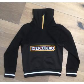 Iceberg kids boys sweater trui met logoprint in de kleur zwart
