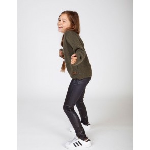 Miss Moscow kids tregging broek animal skin look in de kleur donkerblauw