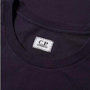 CP Company junior t-shirt met logo print in de kleur donkerblauw
