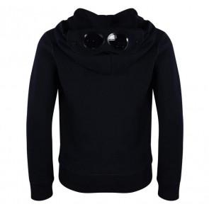 CP Company junior hooded sweatvest met fleece voering in de kleur donkerblauw