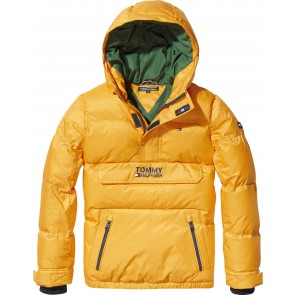 Tommy Hilfiger boys padded pop over anorak winterjas in de kleur geel