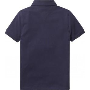 Tommy Hilfiger kids boys polo shirt in de kleur dark blue donkerblauw
