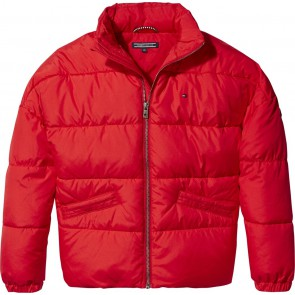 Tommy Hilfiger kids girls winterjas padded jacket in de kleur rood