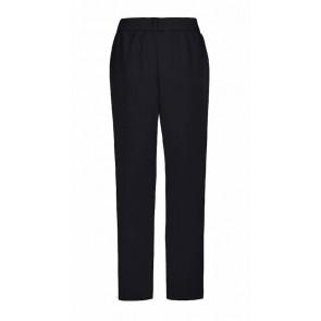 D-xel zwarte pantalon Malissa met glimmende bies in de kleur zwart