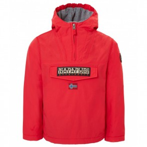 Napapijri rainforest anorak winterjas in de kleur rood