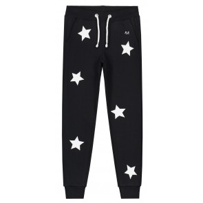 NIK en NIK sweatpants 'White star pants' in de kleur zwart