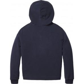 Tommy Hilfiger fleece hoodie trui met logo-ster in de kleur donkerblauw