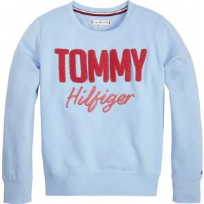 Tommy Hilfiger kids girls mixed applique in de kleur lichtblauw