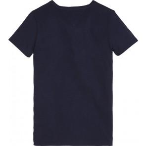 Tommy Hilfiger kids boys shirt foil logo in de kleur donkerblauw