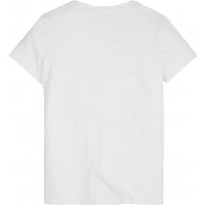 Tommy Hilfiger kids boys shirt foil logo in de kleur bright white
